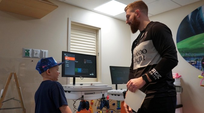 Magic Gaming delivers game kiosks to sick children at Arnold Palmer Hospital