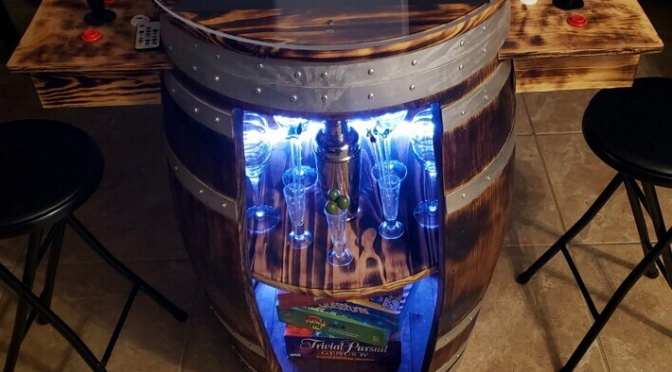 REPORT: Orlando man makes video game machines out of wine, whiskey barrels